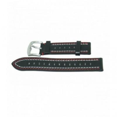 Pasek PACIFIC W18 20mm czarny, biało-czerwone obszycia