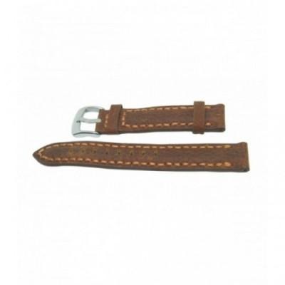 Pasek PACIFIC W24 18mm brązowy, brązowe obszycia