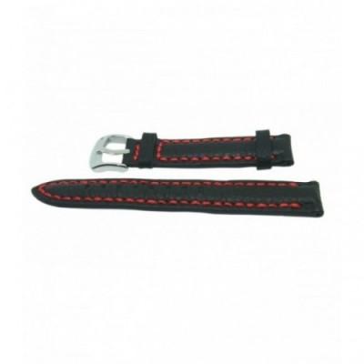 Pasek PACIFIC W24 18mm czarny, czerwone obszycia