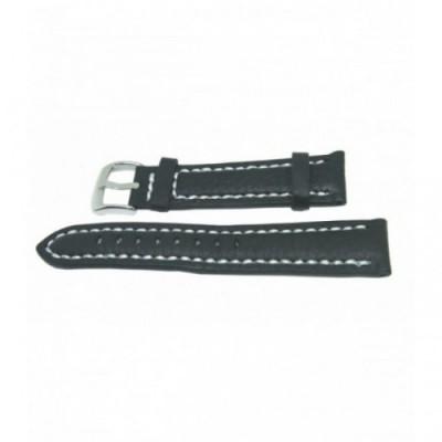 Pasek PACIFIC W24 22mm czarny, białe obszycia