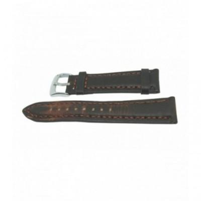 Pasek PACIFIC W24 24mm ciemny brąz, brązowe obszycia