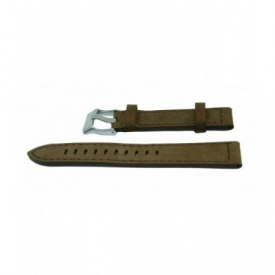 Pasek PACIFIC W25 18mm ciemny brąz, brązowe obszycia