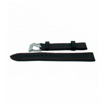 Pasek PACIFIC W25 18mm czarny, czerwone obszycia