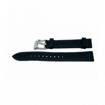 Pasek PACIFIC W25 18mm czarny, niebieskie obszycia