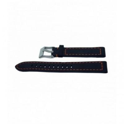 Pasek PACIFIC W25 18mm czarny, pomarańczowe obszycia
