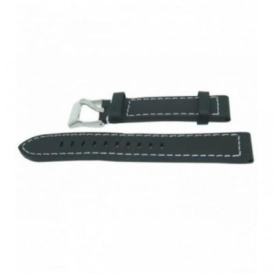 Pasek PACIFIC W25 20mm czarny, białe obszycia