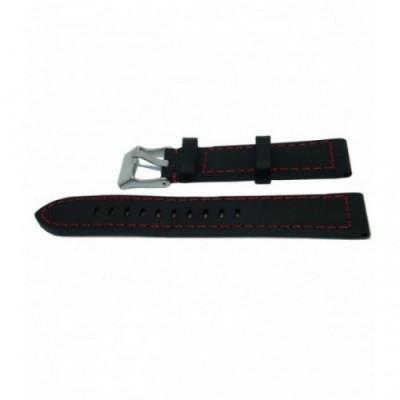 Pasek PACIFIC W25 20mm czarny, czerwone obszycia