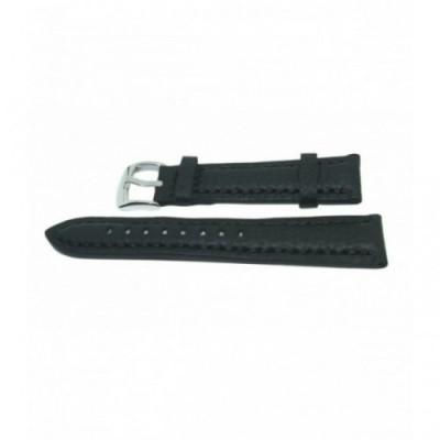 Pasek PACIFIC W24 18mm czarny, czarne obszycia