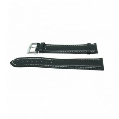 Pasek PACIFIC W06L 18mm czarny, kremowe obszycia
