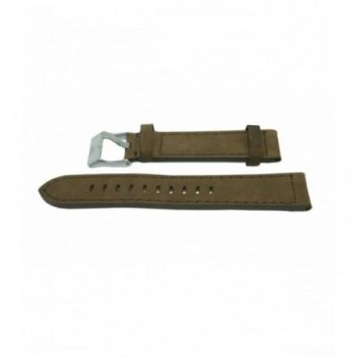 Pasek PACIFIC W25 18mm brązowy,białe obszycia