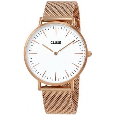 Zegarek CLUSE CL18112 La Boheme Mesh Rose Gold