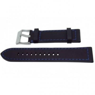 Pasek PACIFIC W25 24mm czarny, niebieskie obszycia