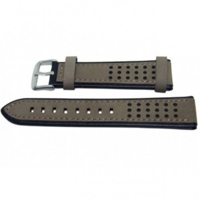 Pasek PACIFIC Premium W80 22mm brązowo-czarny, brązowe obszycia