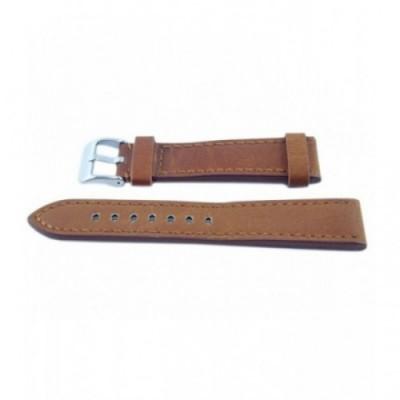 Pasek PACIFIC W48 22mm brązowy, brązowe obszycia