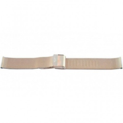 Bransoleta BISSET BM-101 mesh rose gold 20mm