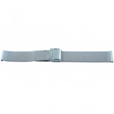 Bransoleta BISSET BM-101 mesh srebrna 16mm