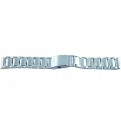 Bransoleta stalowa srebrna BISSET 20mm