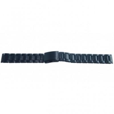 Bransoleta stalowa czarna BISSET 18mm