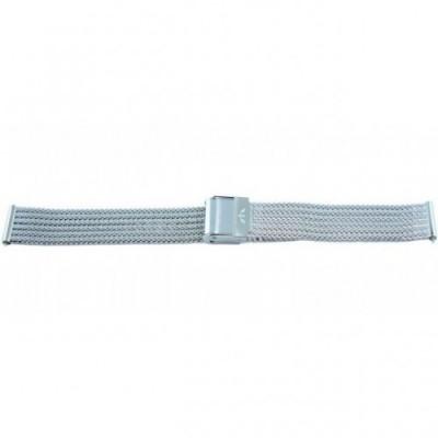 Bransoleta BISSET BM-103 mesh srebrna 14mm