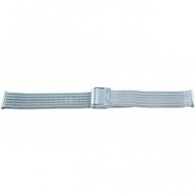 Bransoleta BISSET BM-103 mesh srebrna 16mm
