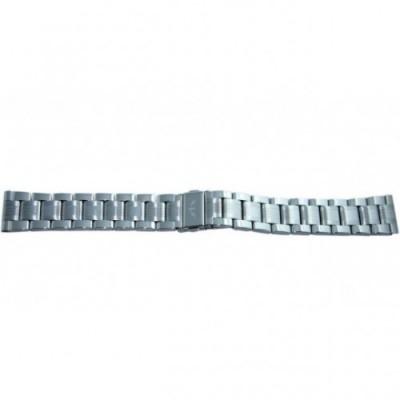 Bransoleta stalowa BISSET BR-109 srebrna 20mm