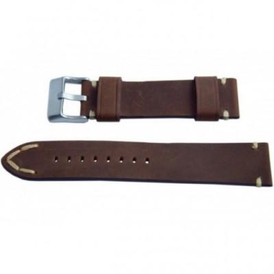 Pasek PACIFIC W93 20mm brązowy, beżowe obszycia