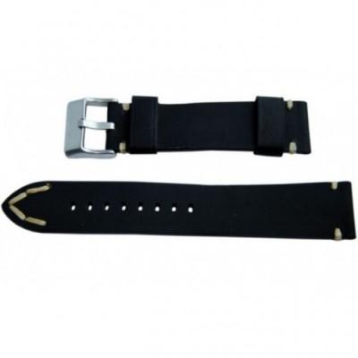Pasek PACIFIC W93 20mm czarny, beżowe obszycia