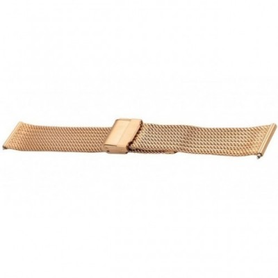 Bransoleta BISSET BM-104 mesh rose gold 18mm