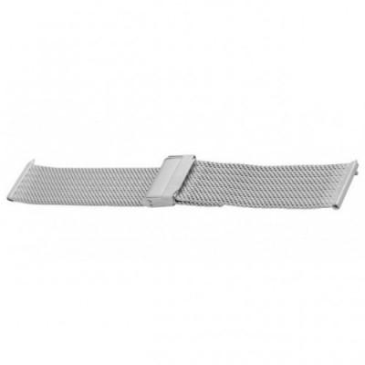 Bransoleta BISSET BM-105 mesh srebrna matowa 18mm