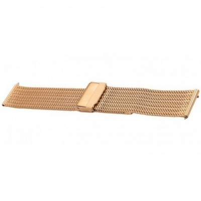 Bransoleta BISSET BM-105 mesh rose gold 18mm