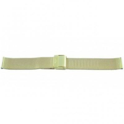 Bransoleta BISSET BM-101 mesh złota matowa 18mm