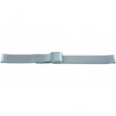 Bransoleta BISSET BM-101 mesh srebrna matowa 12mm