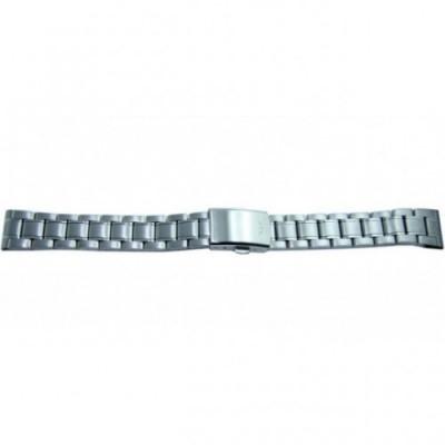 Bransoleta stalowa BISSET BR-106 srebrna 20mm