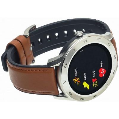 Smartwatch Garett GT22S jasny brąz, skórzany