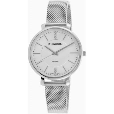 Zegarek RUBICON RNBE51 srebrny/srebrny