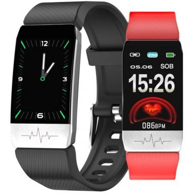 Smartwatch Rubicon RNCE60 czarny/czerwony