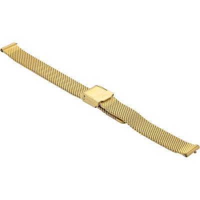 Bransoleta BISSET BM-101 mesh złota-mat 14mm