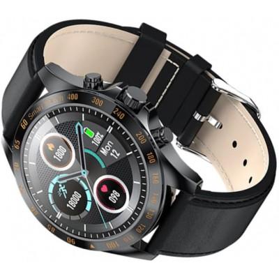 Smartwatch Garett V8 RT czarny, skórzany