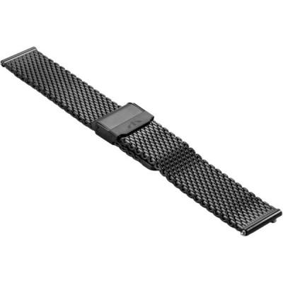 Bransoleta BISSET BM-102 mesh czarna 18mm