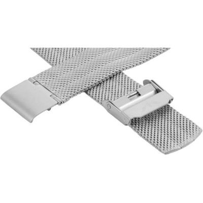 Bransoleta BISSET BM-103 mesh silver matowa 18mm