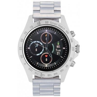 Smartwatch Garett V8 RT srebrny, stalowy