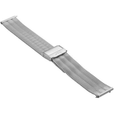 Bransoleta BISSET BM-103 mesh silver błyszcząca 18mm