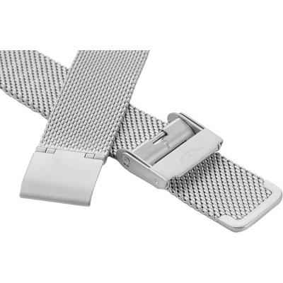 Bransoleta BISSET BM-101 mesh srebrna-mat 16mm