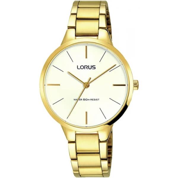 złoty zegarek damski lorus