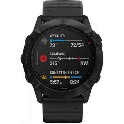 Jaki zegarek sportowy kupić? Czarny zegarek Garmin Fenix 6X Pro
