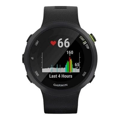 Jaki zegarek sportowy? Zegarek Garmin Forerunner 45S na czarnym pasku